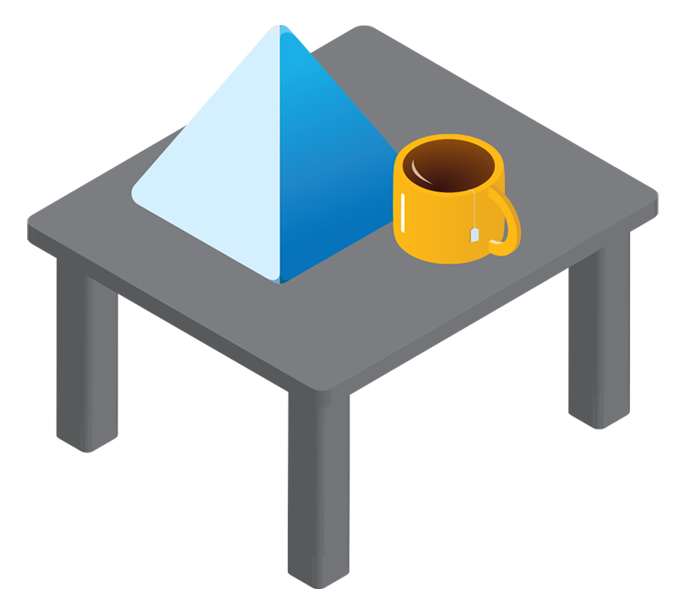 Blue Prism on a table
